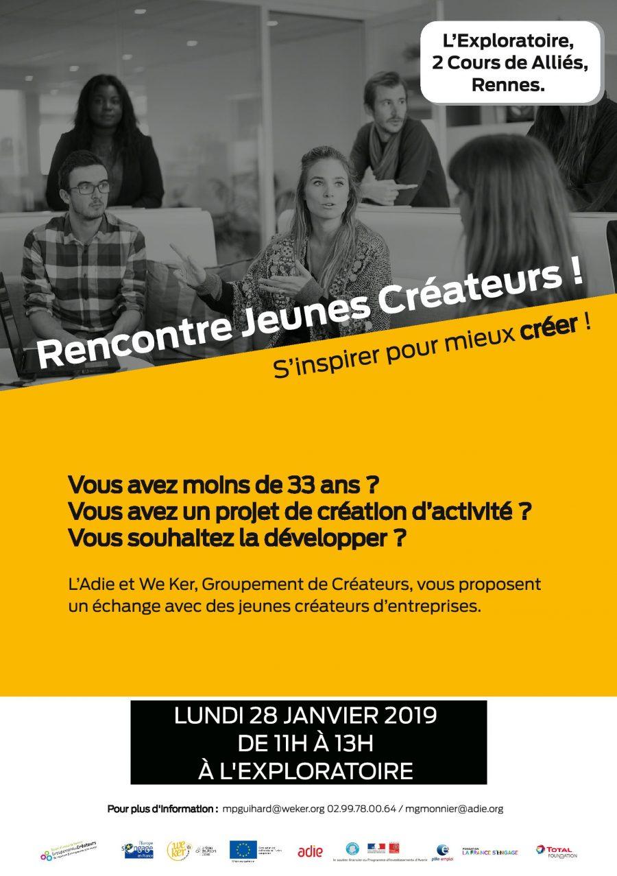 Affiche pour le Groupement de Créateurs du 28 Janvier 2019