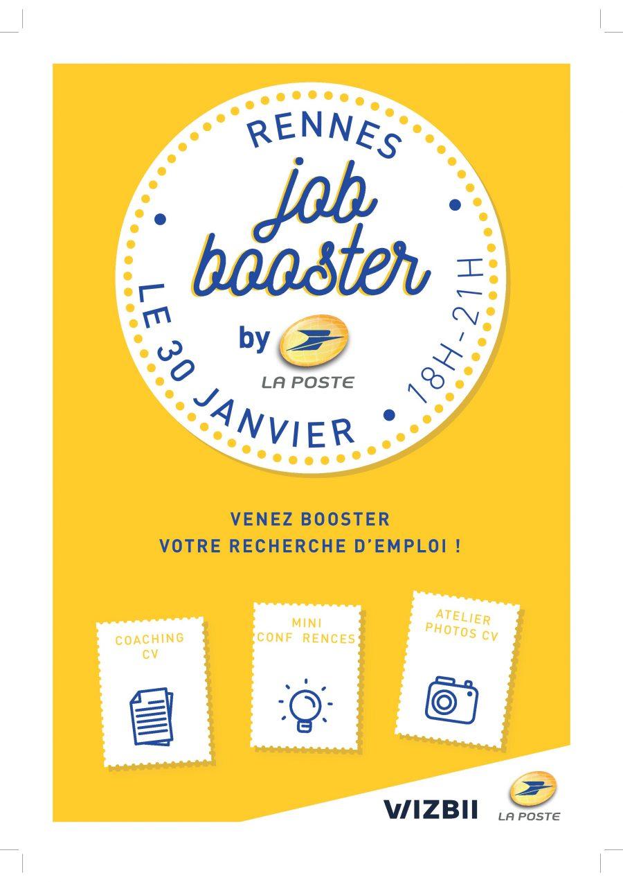 Affiche Job Booster de la Poste